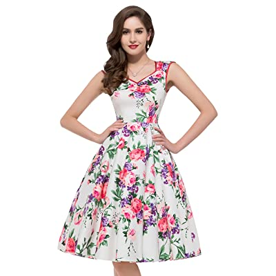 GRACE KARIN Women Floral Homecoming Prom Dress Short for Women CL7600