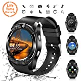 Smart Watch,Bluetooth Smartwatch Touch Screen Wrist Watch with Camera/SIM Card Slot,Waterproof Phone Smart Watch Sports Fitness Tracker for Android iPhone IOS Phones Samsung Huawei for Kids Women Men (Color: V8, Tamaño: 3)
