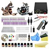 Wormhole Tattoo Complete Tattoo Kit for Beginners Tattoo Power Supply Kit 10 Tattoo Inks 30 Tattoo Needles 2 Pro Tattoo Machine Kit Tattoo Supplies TK1000020