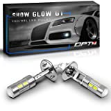 OPT7 Show Glow G1 H1 LED Fog Light Bulbs - 6000K Cool White @ 225 LMS per Bulb - All Bulb Sizes and Colors - 1 Year Warranty (Pack of 2) (Color: 6000K Cool White, Tamaño: H1)