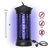 Bug Zapper,Portable Electric Fly Zapper Outdoor Trap Catcher Indoor Mosquito Killer with UV Protects About 2,000/Bug and Fly Killer, Insect Killer For Home,Office,Restaurant with Bouns Lamp (Black) (Color: Black)