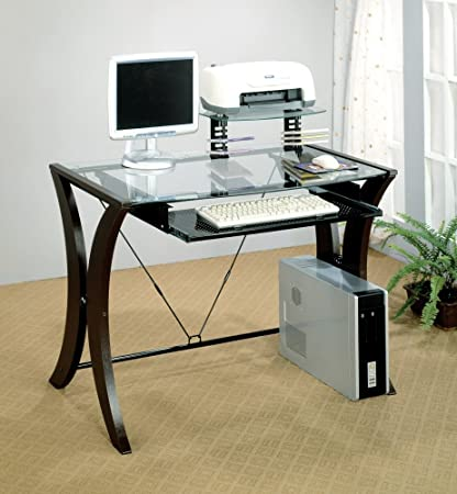 Division Table Desk w Glass Top