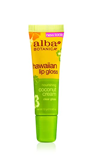 Alba Botanica Hawaiian, Coconut Cream Clear Lip Gloss, 0.42 Ounce