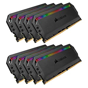 Corsair Dominator Platinum RGB 128GB (8x16GB) DDR4 3800 (PC4-30400) C19 1.35V Desktop Memory - Black