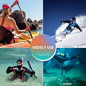 WOOWAVE Diving Gloves 3mm Premium Double-Lined Neoprene Wetsuit Gloves with Adjustable Strap for Men Women Scuba-Diving Surfing Kayaking All Water Sports