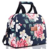 BALORAY Lunch Bag for Women with Shoulder Strap Insulated Lunch Tote Bag Perfect for Work Picnic(Dark Blue) (Color: Dark Blue)