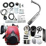 49Cc 4-Stroke Gas Petrol Motorized Bike DIY Engine Engine Motor Kit Scooter Motorized Bicycle Engine Gas Petrol Motor Chain for 26