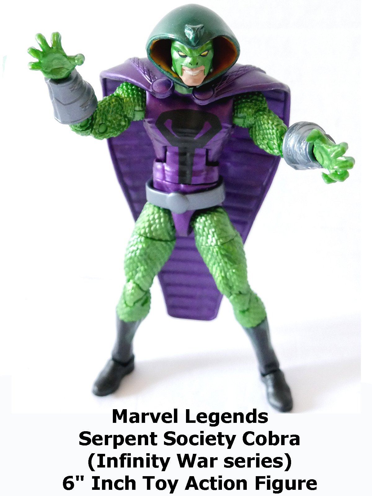 "Review: Marvel Legends Serpent Society Cobra (Infinity War series) 6"" Inch Toy Action Figure"