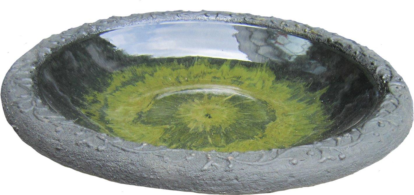 Tierra Garden 4 8184t Light Green Gloss Bird Bath Bowl