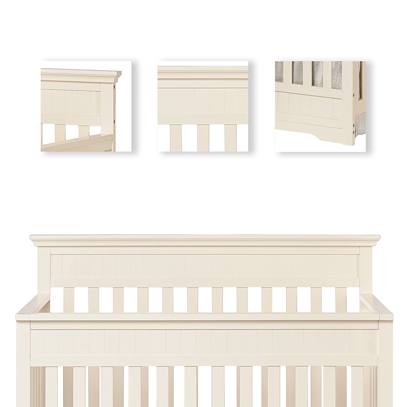 Dream On Me Chesapeake 5-In-1 Convertible Crib, French White 4