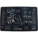Glock AD00073 Perfection OEM Cleaning Bench Mat (Color: Black with White Print, Tamaño: 10.75