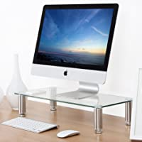 Fitueyes Clear 4.7''x23.6'' Computer Monitor Riser Desktop Stand