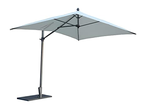 Maffei Art 137r Kronos parasol deporté rectangulaire cm 300x200, tissu polyester imperméable. Made in Italy. EXCLUSIVITE MAFFEI. Couleur ecru