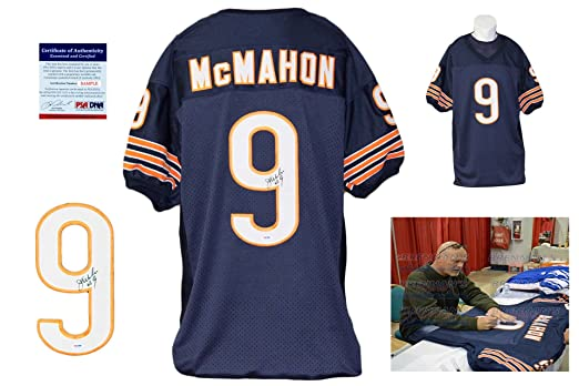 check out 02e67 7846a Jim McMahon Autographed / Signed Navy Jersey - Chicago Bears ...