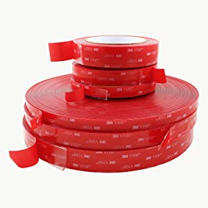 3M Scotch 4910 VHB Tape: 1 in. x 15 ft. (Clear) (Color: Clear, Tamaño: 1 in. x 5 yds.)