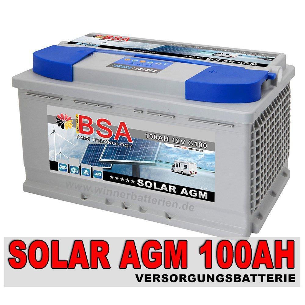 100Ah  12V AGM GEL Batterie Wohnmobil Solarbatterie Boot Solarakku  BaumarktKundenberichte und weitere Informationen