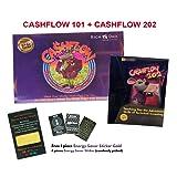 Cashflow 101 Board Game + Cashflow 202 Board Game Robert Kiyosaki + FREE GIFT Energy Saver Sticker