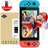 2 Pack Switch Tempered Glass, ToHayie Nintendo Switch Screen Protector Anti-shock Protective Glass 9H Hardness 0.33mm Full Coverage Screen Film for Nintendo Switch 2017 (2 Pack)