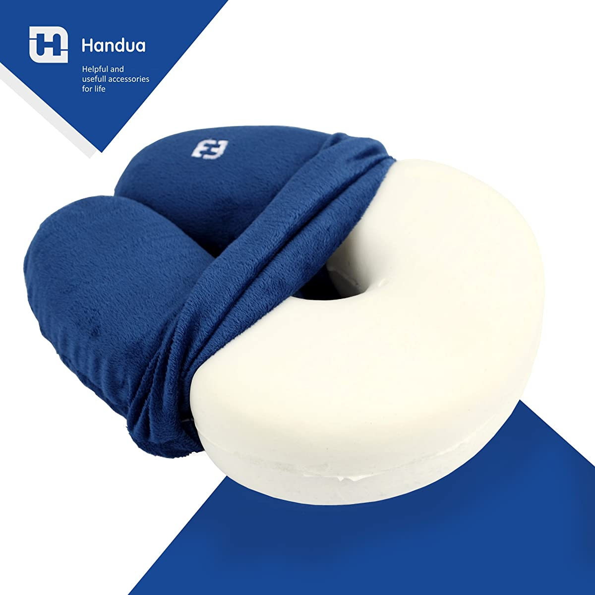 Travel Pillow Made Of Memory Foam With 3 Pillow Cases