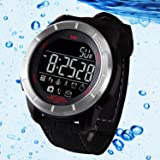 Waterproof Fitness Tracker Smart Watch, Collasaro Bluetooth Outdoor Sport Diving Smartband Watch with Pedometer Calorie Counter Heart Monitor Call/SMS Notification for Android & IOS