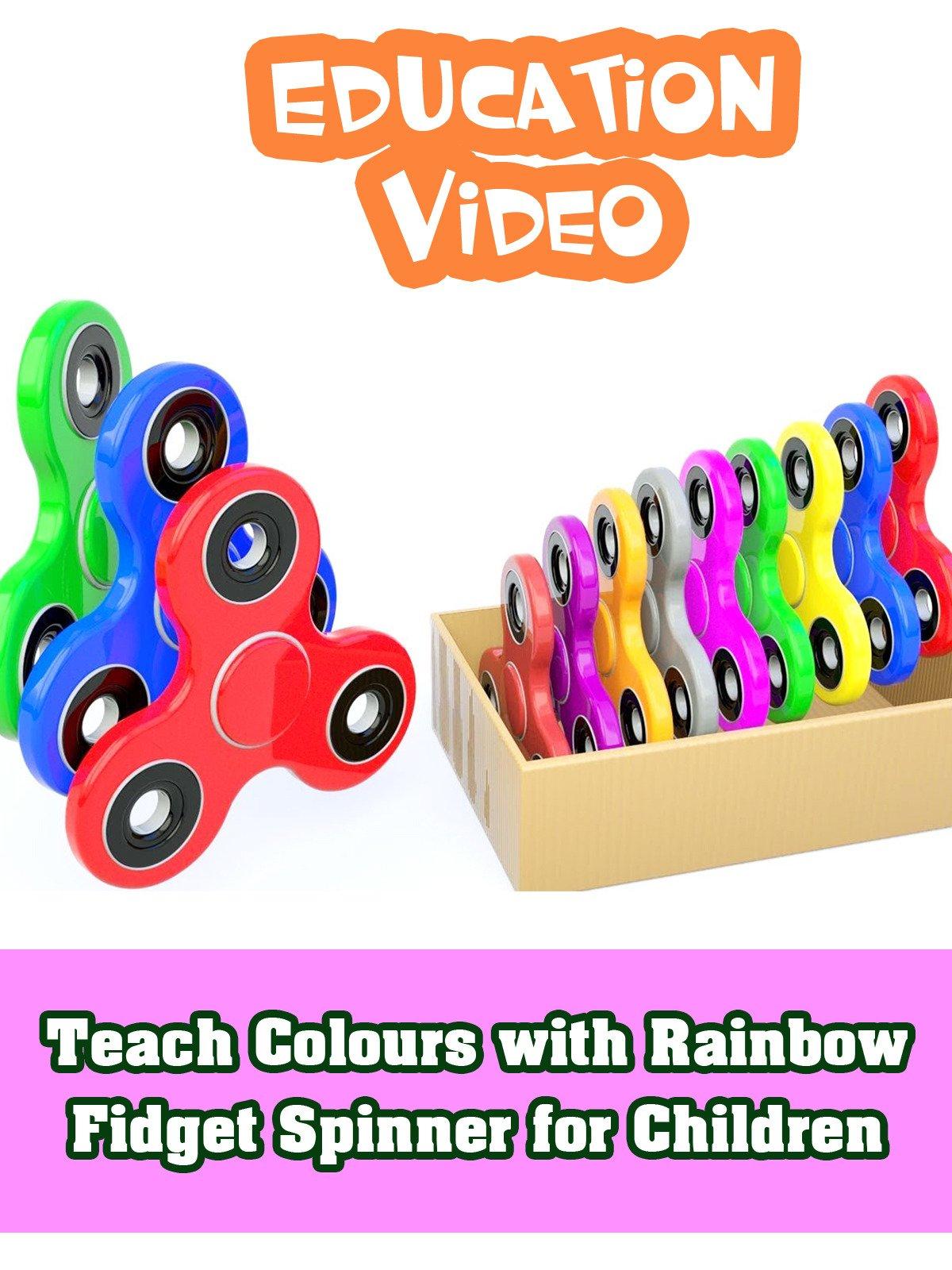 Teach Colours with Rainbow Fidget Spinner for Children