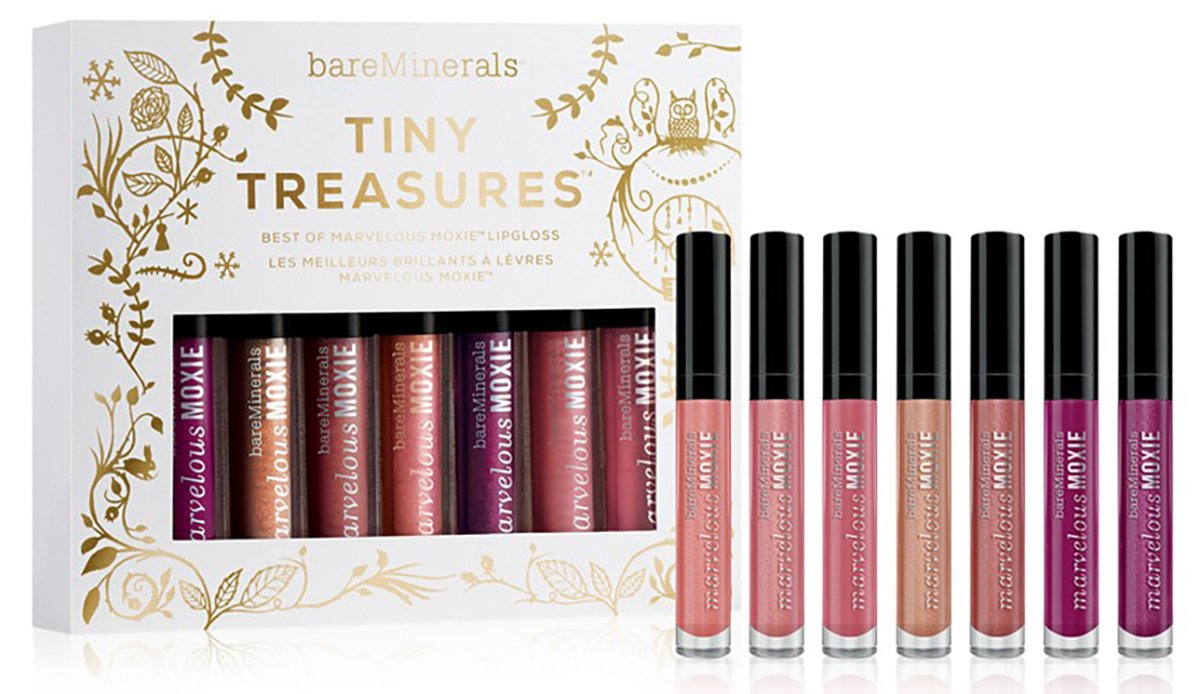 Bare Minerals Tiny Treasure Moxie Lipgloss set