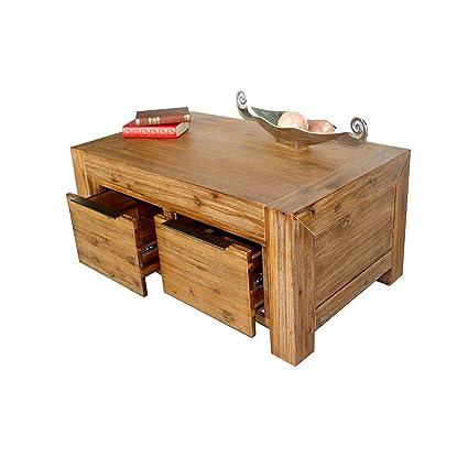 Florenz Couchtisch 100 x 60 cm Wohnzimmertisch Tisch Massivholz Akazie Massivholztisch