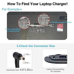 Vanzer 45W Laptop Charger for ASUS UX330U X330U UX360C UX360U X540 X540L F553 K556 K556U X556U X556UR X556UA Taichi 21 31 Power Adapter [19V 2.37A]