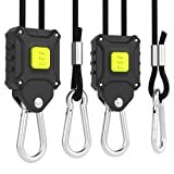 VIVOSUN 1-Pair 1/8 inch Rope Hanger w/Improved Design, More Convenience - Press Button Easy Adjust, Reinforced Metal Internal Gears, 8-ft Long & 150lbs Weight Capacity (Exclusively Patented (Color: 1 pair, Tamaño: Hangers)