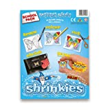 Shrinkles Shrink Art, Shrink Plastic - Large 101x131mm - Crystal Clear by Wizard Toys