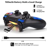 Playstation DualShock 4 Controller - OUBANG PS4 Controller Wireless Remote Control with Micro USB Charging Cable for Playstation 4/PS4 Pro/PS4 Slim/PC/PS TV(Sapphire (Color: Sapphire)