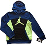 JORDAN Nike Boys Youth Flight Warp Speed Therma-Fit Hoodie Pullover Size M, L (L (12-13)) (Color: Blue, Tamaño: L (12-13 Years))