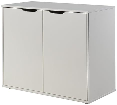 VIPACK pihskd14pino cómoda 2puertas MDF blanco 85,5x 43x 72cm