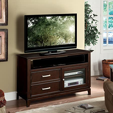 Wooden TV Cabinet in Warm Ebony Finish