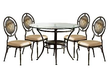 Powell 364-410M2 Basil Dining Set, 5-Piece