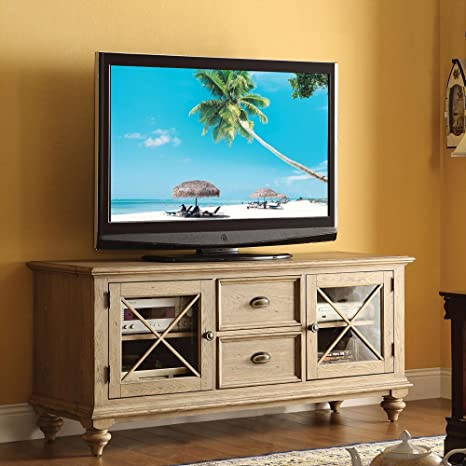 Riverside Furniture Coventry TV Console in Weathered Driftwood