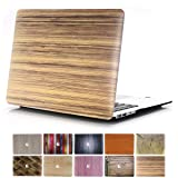 MacBook Air 13 Case, PapyHall 2 in 1 MacBook Air Protect Case Distinctive Wood Printing Plastic Hard Shell Cover Case for Apple MacBook Air 13 inch Model:A1369 / A1466 - (Wood-Bamboo) (Color: 2 Wood-Bamboo, Tamaño: 15 Inches)