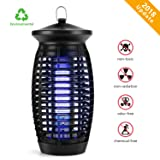 Electric Indoor Bug Zapper, Mosquito Zapper Fly Trap, Insect Killer Fly Zapper Mosquito Trap with 120V UV Bug Light/500 Sq Ft Coverage for Home Garden Patio Yard Office Store (Black) (Color: BLACK, Tamaño: XX2.5)