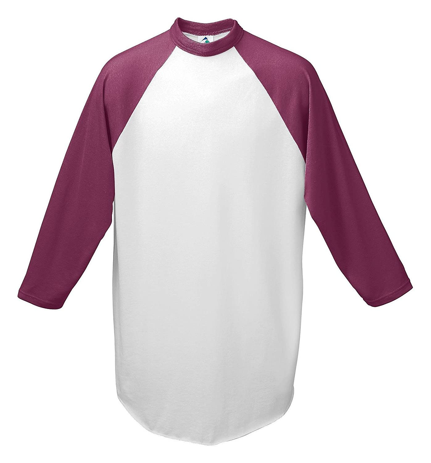 Youth Baseball Jersey, Color: White/Maroon, Size: Medium купить