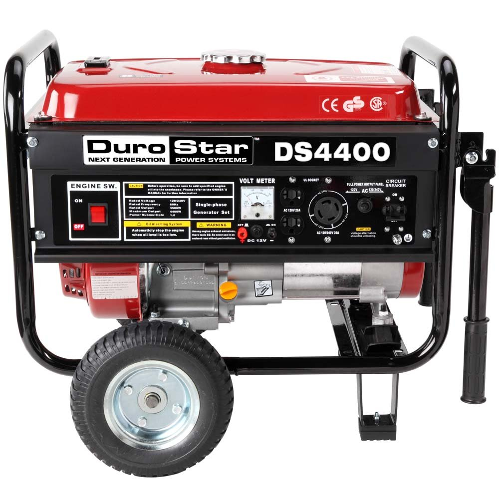 DuroStar DS4400 Emergency Generator With Wheel Kit