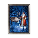 Adarl 5D DIY Diamond Painting Rhinestone Pictures of Crystals Embroidery Kits Arts, Crafts & Sewing Cross Stitch(Santa Claus Gift Time-6) (Color: Santa Claus Gift Time-6, Tamaño: 30*40cm/11.81*15.75inch)