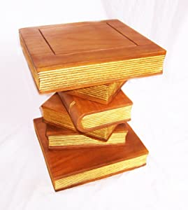 Stacked Books Ornamental table   Large       reviews and more information