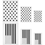 Blulu Star Stencil 50 Stars American Flag Template and 2 in 1 USA Flag Stencil for Painting on Fabric, Paper, Wood, Wall, Multiple Use