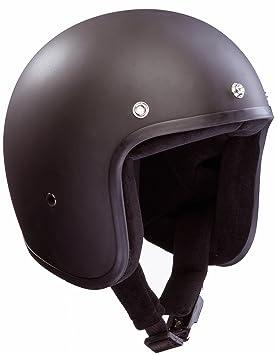BANDIT casque jet taille xL, noir mat, fibre de verre, jet, sans norme eCE