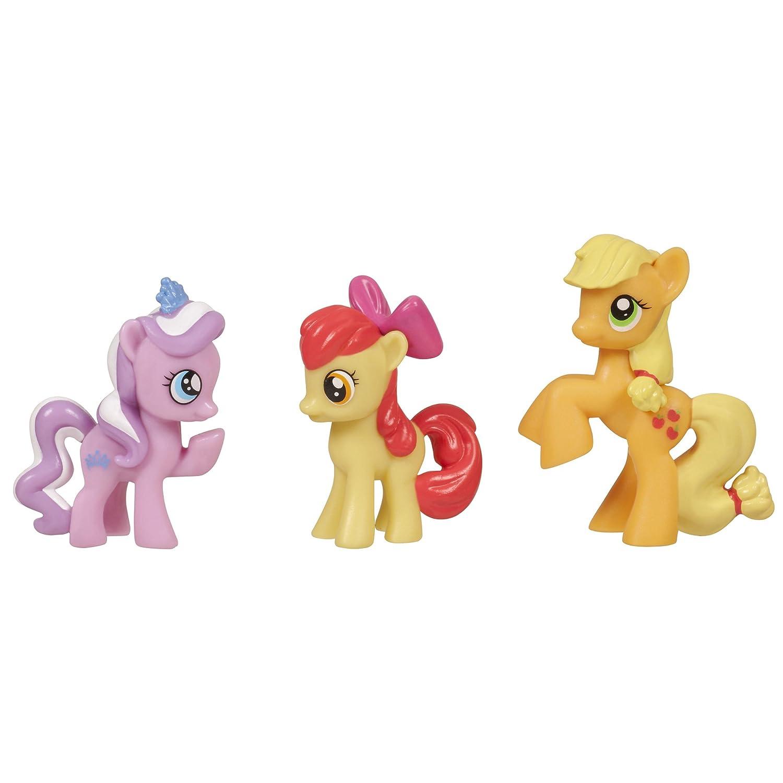 My Little Pony Sammelfiguren – Pony Class of cutie Marks Set m. Diamond Dazzle Tiara, Apple Bloom und Applejack günstig kaufen