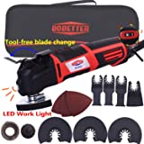 Dobetter Oscillating Tool, 2.8-Amp 6 Variable Speed Oscillating Multi-Tool, Oscillating Saw with Saw Blades and Carry Bag -OT2832 (Color: Red/Black)