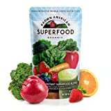 Grown American Superfood | 31 Organic Whole Fruits and Vegetables condensed into a single delicious drink | Concentrated Green Powder made to Increase Energy and Performance Packed with Antioxidants