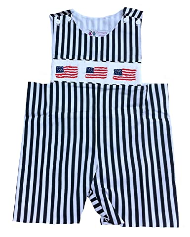 Festive Threads Unisex Baby Babys First 4th Of July T-Shirt Romper Lt. Blue, 24 Months