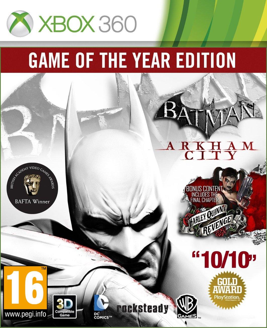 Original Xbox Games On Xbox 360 : Games xbox batman arkham city game of the year