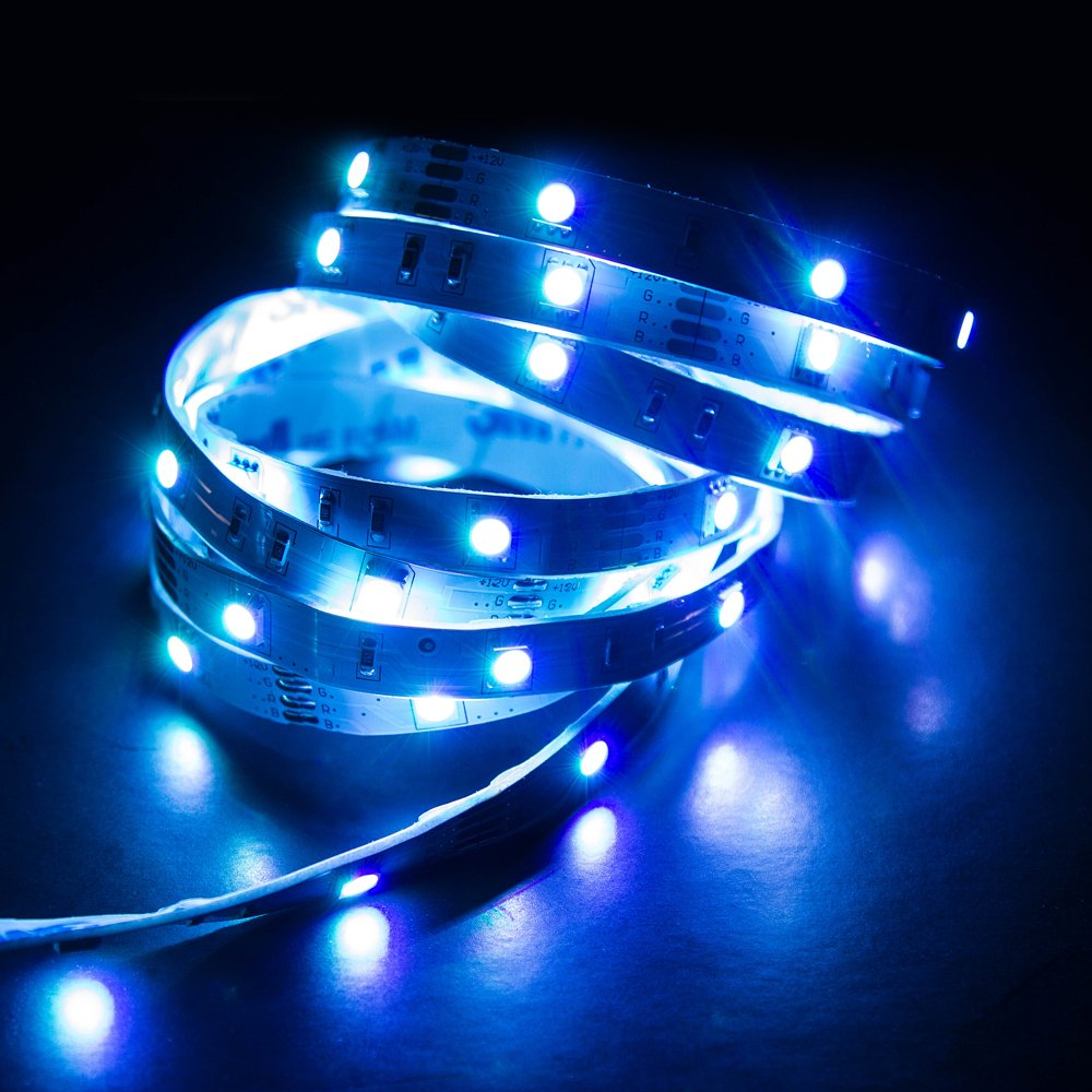 Veho Kasa Bluetooth Smart LED Light Strip | Smartphone Controlled | Dimmable | Colour Changing | 10ft 3M Adhesive Back | 7.2W (VKL-001-3M)